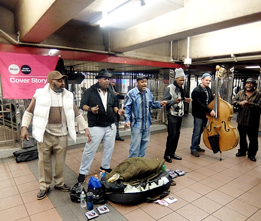 NYの地下鉄駅構内で遭遇したドゥーワップ・バンド、Cover StoryのBy The Power Of God_b0007805_024035.jpg