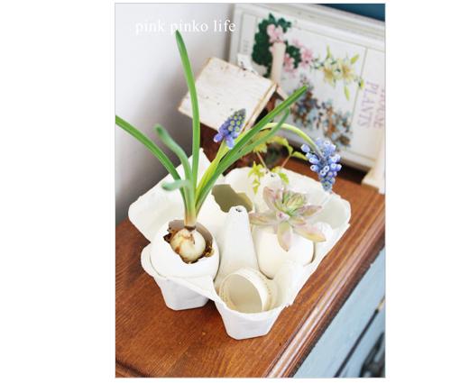 卵の紙パックでインテリア雑貨_d0351435_17433479.jpg