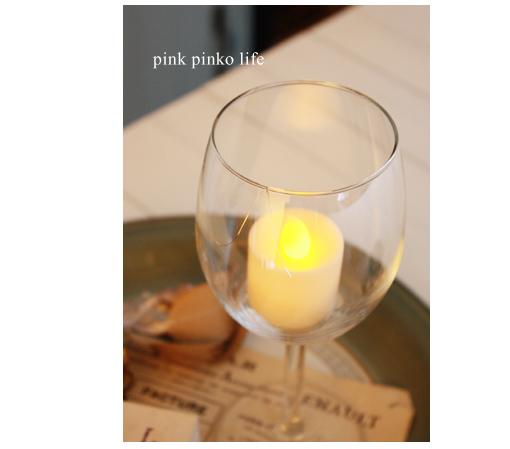 ワイングラスでインテリア_d0351435_17435794.jpg