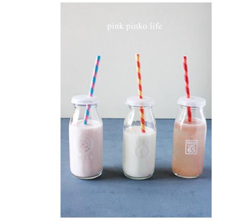 瓶牛乳がかわいく変身 ♪_d0351435_17501037.jpg