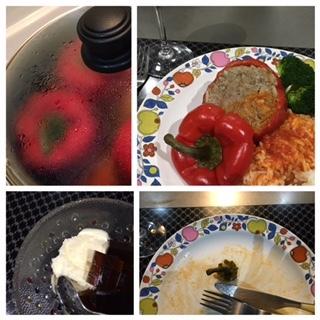 ドイツ風、赤パプリカの肉詰め_f0243509_11020146.jpg