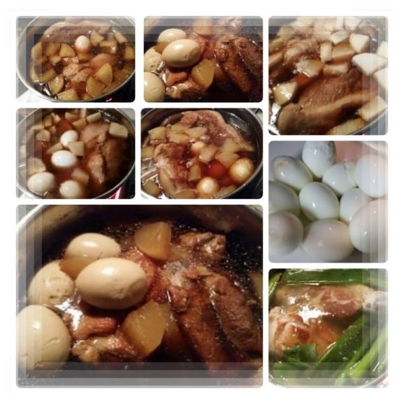 煮卵。煮豚。煮大根♪_d0219834_06121144.jpg