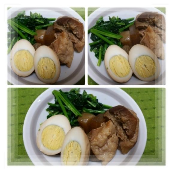 煮卵。煮豚。煮大根♪_d0219834_06121550.jpg