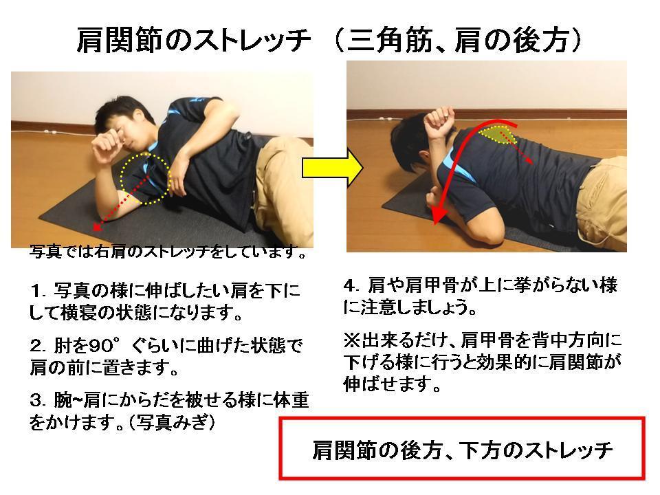 競泳選手の肩の痛み③ (肩関節のストレッチ)_c0362789_11123226.jpg