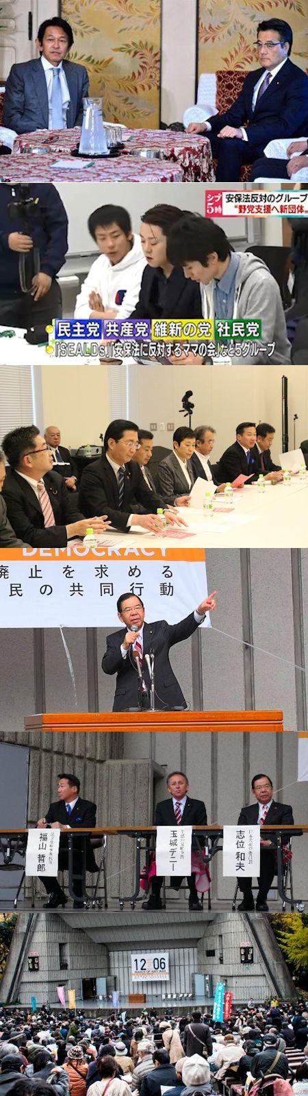 左右二つに路線が割れた野党共闘 - SEALDsほかの「新市民団体」の暗雲_c0315619_16333439.jpg