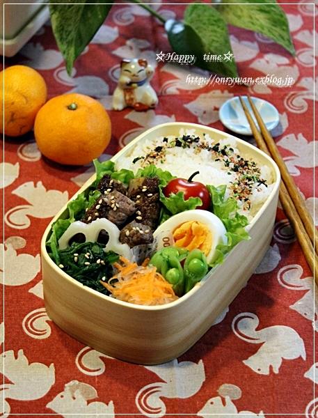 ごぼうの肉巻き弁当と彩り野菜と常備菜作り♪_f0348032_18184856.jpg