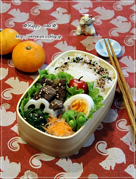 ごぼうの肉巻き弁当と彩り野菜と常備菜作り♪_f0348032_18185600.jpg
