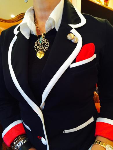 素敵すぎる、大人のマリンジャケット!@Regina Romantico_f0215324_10533076.jpg