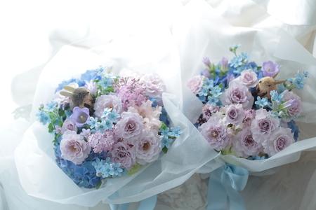 ご両親への贈呈プレゼントの花 八芳園様へ 千趣会ベルメゾンでもウサギの花束売ってます_a0042928_18332371.jpg