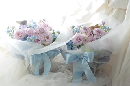 ご両親への贈呈プレゼントの花 八芳園様へ 千趣会ベルメゾンでもウサギの花束売ってます_a0042928_18352662.jpg