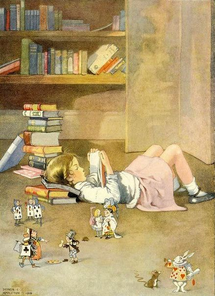 Honor C. Appletonのアリス本を読む少女_c0084183_17113615.jpg