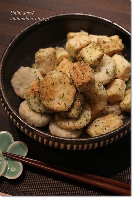 高野豆腐と長芋の青海苔揚げ だしまぶし_f0179404_6473891.jpg