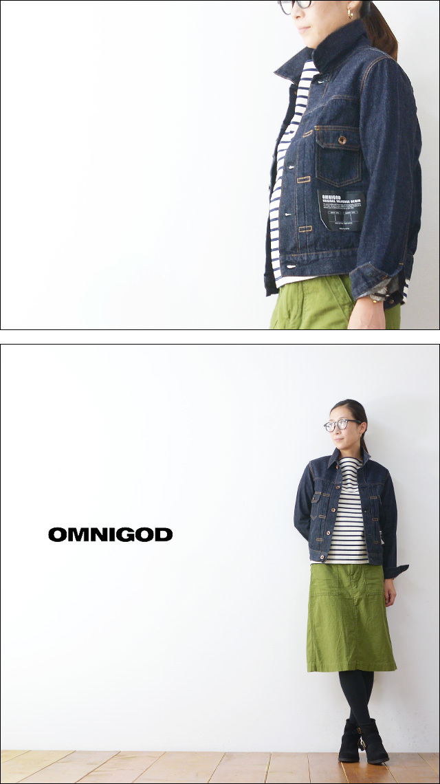 OMNIGOD[オムニゴッド] 2ND TYPE JACKET ONE WASH  [58-747C]  LADY\'S_f0051306_19312884.jpg
