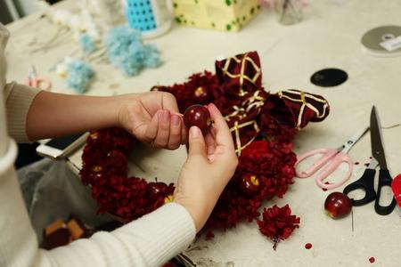 12月13日レッスン 結婚式のプレゼントやリース手作りいろいろ 次回1月31日_a0042928_19195182.jpg