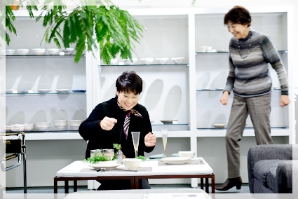 宮部友宏さんの器でX'masテーブル☆ ~空間コーディネートクラス_d0217944_1217052.jpg