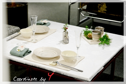 宮部友宏さんの器でX'masテーブル☆ ~空間コーディネートクラス_d0217944_12215686.jpg