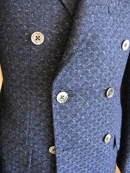 スコットランド産のブークレ調ツィード de 四半世紀ぶりにダブルジャケットを創った 編_c0177259_23273470.jpg
