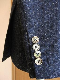 スコットランド産のブークレ調ツィード de 四半世紀ぶりにダブルジャケットを創った 編_c0177259_23274927.jpg