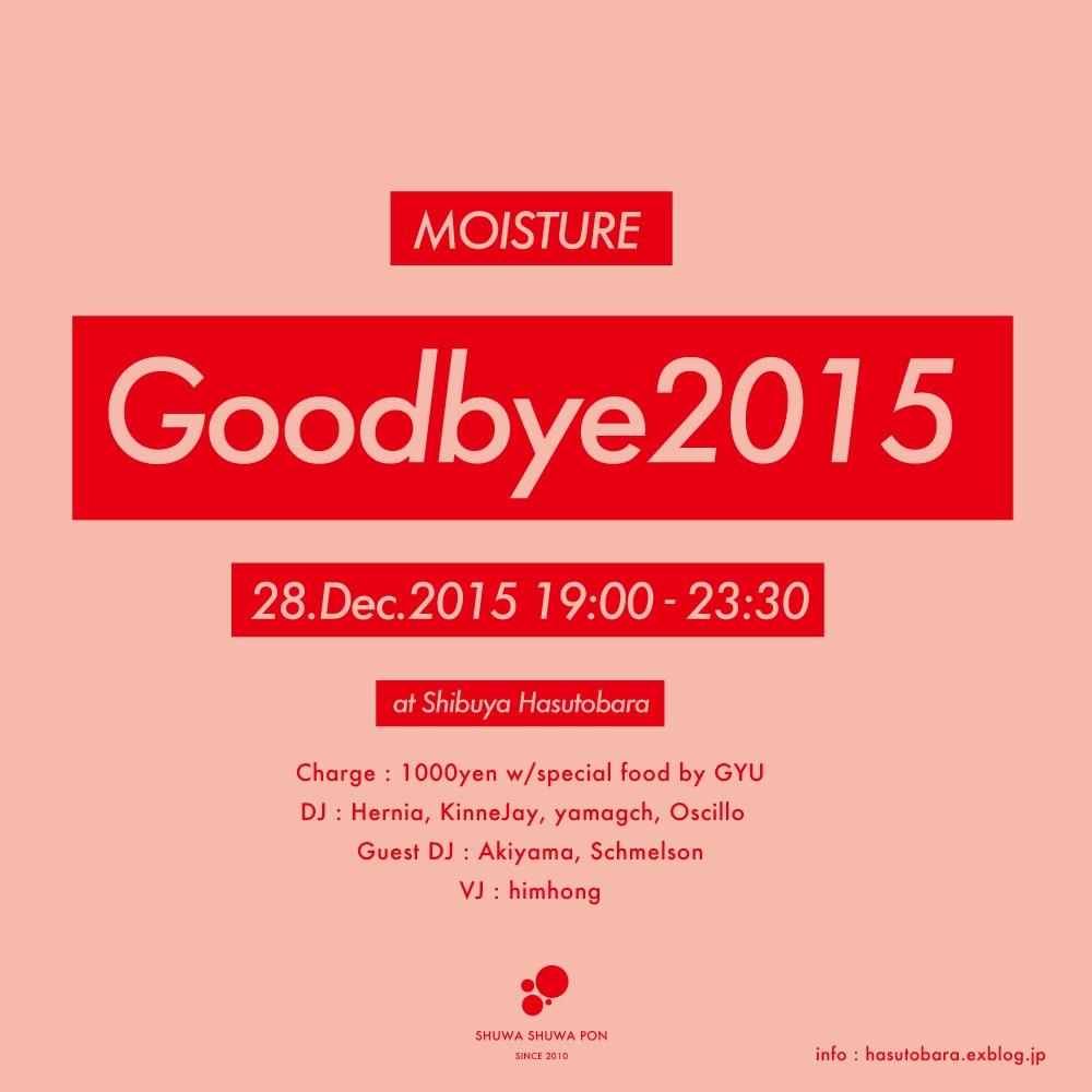 2015年12月28日(月)ディナータイムパーティ『 MOISTURE Goodbye 2015』_a0083140_18145333.jpg