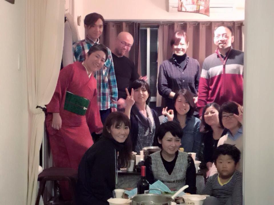 美と癒しチーム忘年会こたつで鍋パーティー_f0140145_12284787.jpg