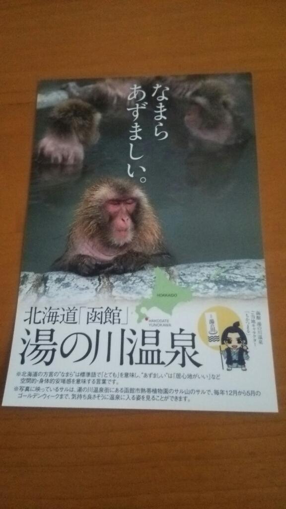 函館湯の川温泉のおさるさんポスター_b0106766_17344809.jpg