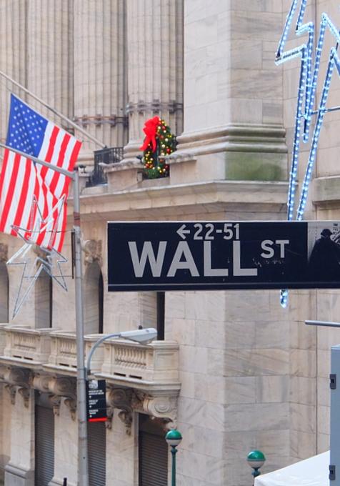 NYウォール街、証券取引所前のクリスマス・ツリー2015_b0007805_10442681.jpg