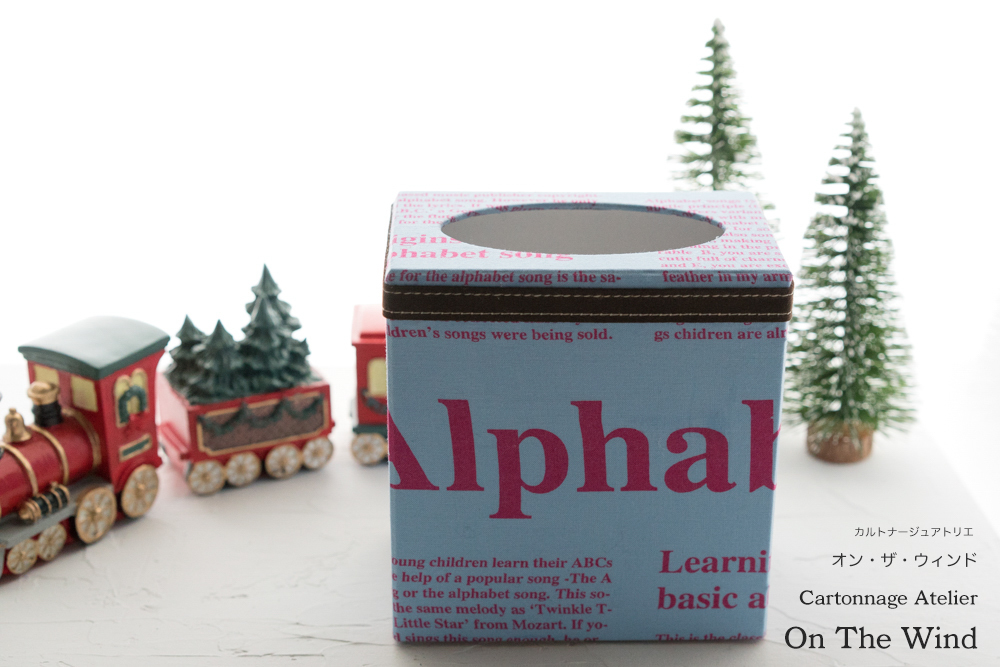 カルトナージュ*12月制作の作品は、クリスマスセッティングで撮影です。No.1(アトリエメンバー作品)_d0154507_15045481.jpg