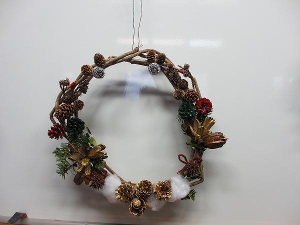 2015.12.12のクリスマスリースとキャンドルスタンド作り_b0189727_15441634.jpg