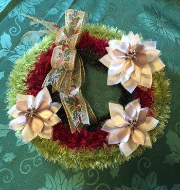 先週と今週のリボンレイのレッスン クリスマスの作品_c0196240_03354135.jpg