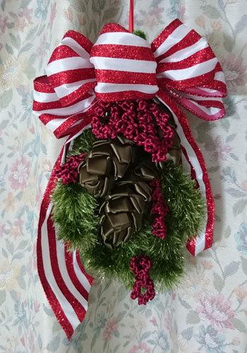 先週と今週のリボンレイのレッスン クリスマスの作品_c0196240_03464202.jpg