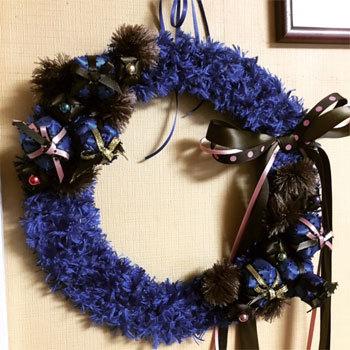 先週と今週のリボンレイのレッスン クリスマスの作品_c0196240_03560881.jpg