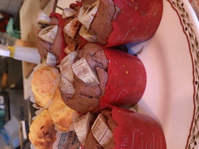 「チョコバナナマフィン」_a0075684_2011233.jpg