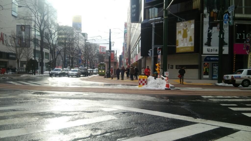 平成27年12月21日㈪今朝の函館の天気と積雪、気温は。札幌市電ループ運行開始_b0106766_07090272.jpg