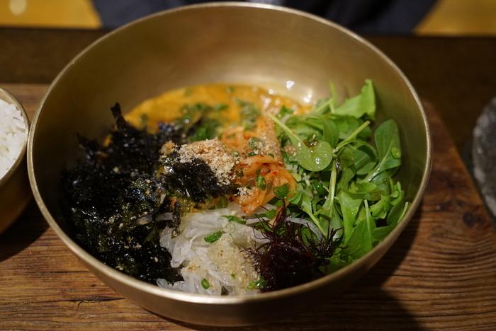 かに味噌入りかにのビビンバと、うにのビビンバがおいしかった江南の海鮮韓国料理屋さん「バラッ」。_a0223786_10364026.jpg
