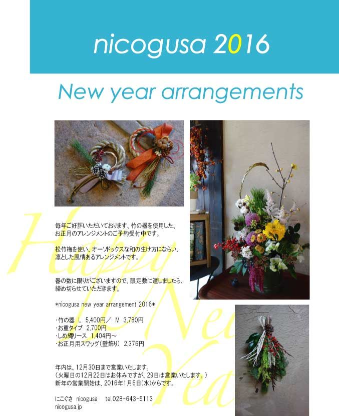 nicogusa new year arrangement 2016 ②_c0069389_17283347.jpg