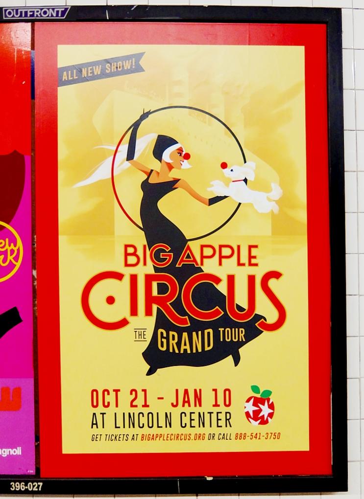 NYの地下鉄で見かけた、可愛すぎるサーカスのポスター_b0007805_2153253.jpg
