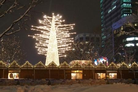 札幌大通公園のホワイトイルミネーション _b0106766_21155123.jpg