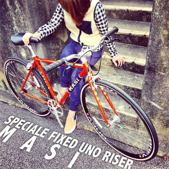 2016 MASI FIXED UNO RISER マジィ ピスト クロモリ おしゃれ自転車 自転車女子 自転車ガール_b0212032_16111133.jpg