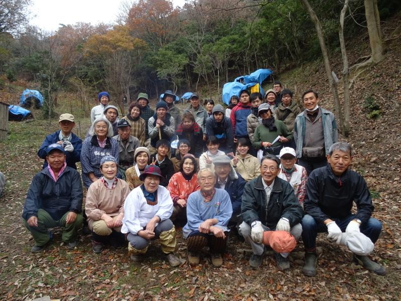 和歌山大学生「里山体験」 & 餅つき忘年会 in 孝子の森_c0108460_23331320.jpg