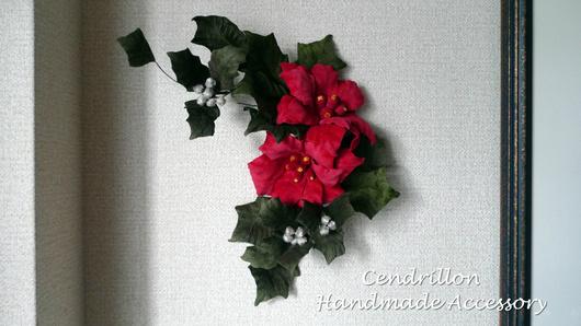 クリスマスも布花で色どりを♪_d0265249_17214263.jpg