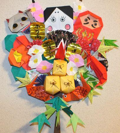 クリスマス 折り紙:折り紙 お正月-cosmos1009.exblog.jp
