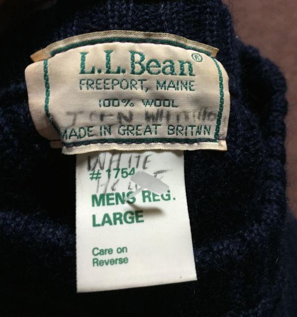 12月26日(土)入荷!80's〜MADE IN GREAT BRITAIN  L.L BEAN コマンドセーター!_c0144020_14444548.jpg