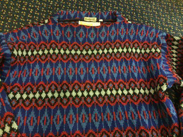 12月26日(土)入荷! MADE IN SWEDEN  all wool ノルディック sweater!!_c0144020_14503538.jpg