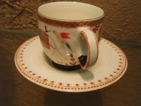 升たかさんの象のカップ&ソーサー_b0132442_14422672.jpg