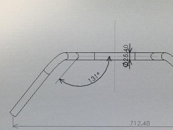 XL500S インテークマニホールド製作とハンドルの製図_a0139843_14434942.jpg