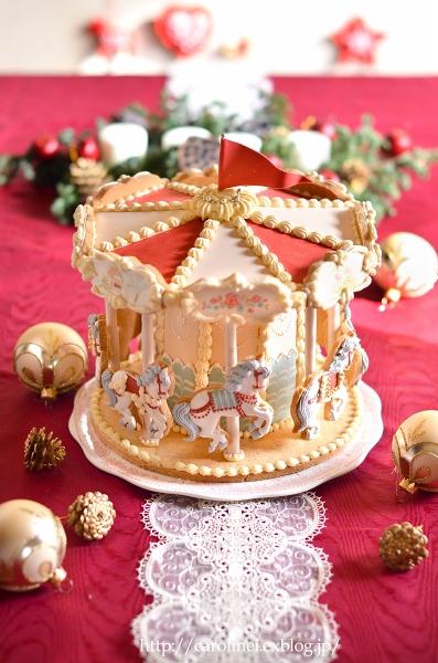 メリーゴーランドアイシングクッキーで、メリークリスマス Homemade Carousel Icing Cookies_d0025294_20203339.jpg