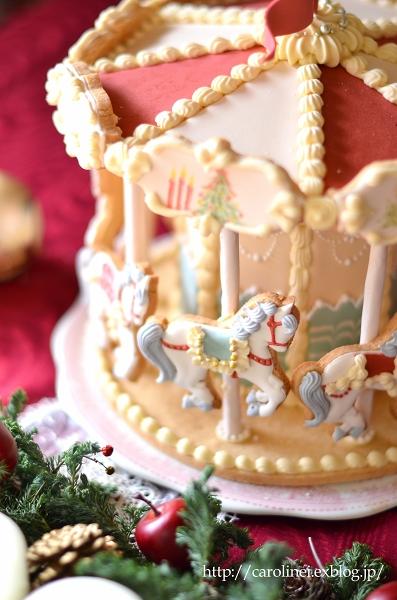 メリーゴーランドアイシングクッキーで、メリークリスマス Homemade Carousel Icing Cookies_d0025294_20212642.jpg