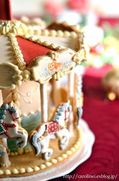 メリーゴーランドアイシングクッキーで、メリークリスマス Homemade Carousel Icing Cookies_d0025294_2021283.jpg