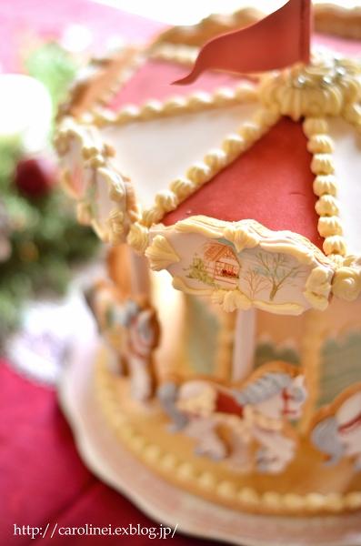 メリーゴーランドアイシングクッキーで、メリークリスマス Homemade Carousel Icing Cookies_d0025294_202223.jpg