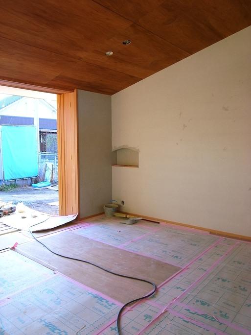 NTさんの家 左官工事も始まる 2015/12/26_a0039934_18582753.jpg
